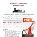 Sheltered Housing Customer Care Charter