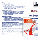Customer Care Leaflet