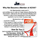 Membership of ACHA Application Form