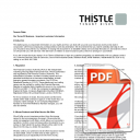Thistle Customer Information - Terms of Business