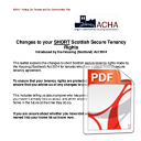 Changes to your SHORT Scottish Secure Tenancy Rights