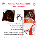 Talented Pets Award 2018 Nomination Form