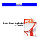 Group Governing Body Members Code of Conduct