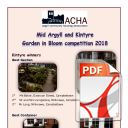 Garden in Bloom Winners 2018 Mid Argyll and Kintyre